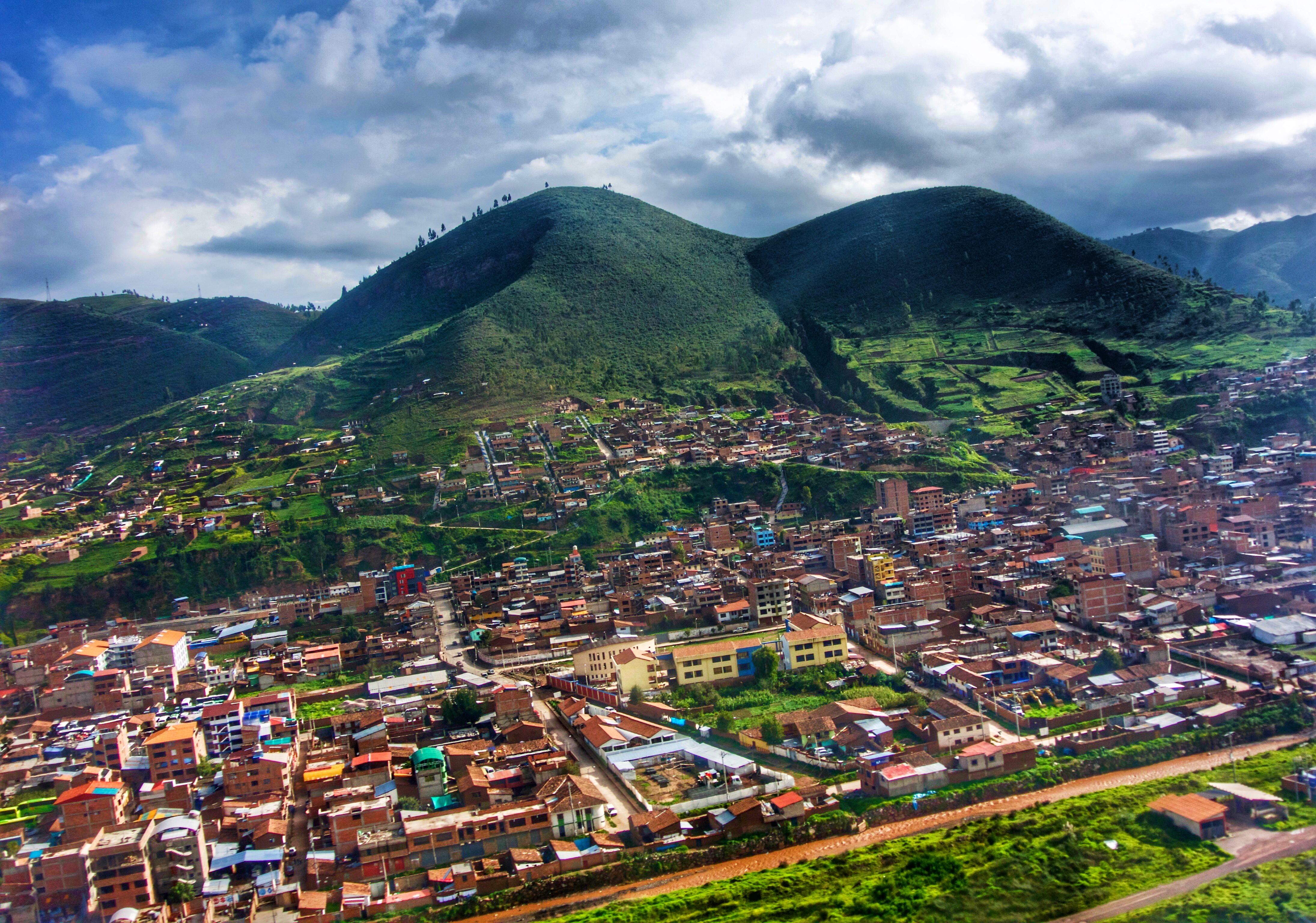 Vista del Cusco desde el aire